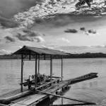 """Raft Floating on Calm Kapuas River"" by tfjunction"
