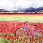 """Bicycling through the tulips"" by studiobythesound"