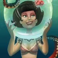 One Fish Two Fish Art Prints & Posters by Traci Cook