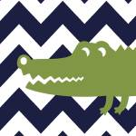 """alligator 16x20 1"" by ZeppiPrints"