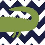 """alligator 16x20 3"" by ZeppiPrints"