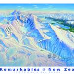 """The Remarkables New Zealand"" by jamesniehuesmaps"