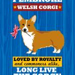 """Pembroke Welsh Corgi Royal/Red"" by Nose2Tales"