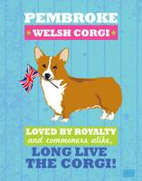 Pembroke Welsh Corgi Blue/Green