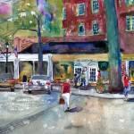 """Summer Visions, Scarsdale Street Scene Landscape"" by schulmanart"