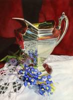 Silver Pitcher and Bluebonnet