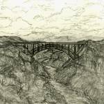 """Desert Vista - Burro Creek Bridge"" by artbycaralina"