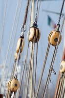 Sailboat pulleys
