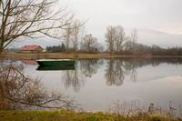Cerknica lake in the morning