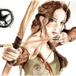 """Jennifer Lawrence as Katniss Everdeen"" by feelingartsy"