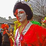 """Asian Mardi Gras Costume, New Orleans"" by louismaistros"