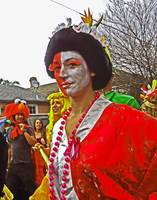 Asian Mardi Gras Costume, New Orleans