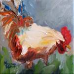 """Rooster Takes A Bow!"" by normawilsonfineart"