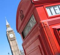 Red Phone Box & Big Ben, London