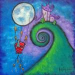 """Little Red Tea Cup In Flight"" by juliryan"