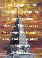 Serenity Prayer in White