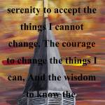 """Serenity Prayer in Black"" by markmooreart"