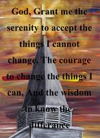 Serenity Prayer in Black
