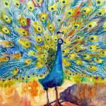 """Peacock Pootinella, modern art"" by schulmanart"