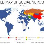 """World Map of Social Networks - June 2012"" by vincos"