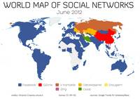 World Map of Social Networks - June 2012