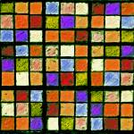 """Sudoku Abstract Orange Purple"" by KsWorldArt"