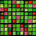 """Sudoku Abstract Green Red"" by KsWorldArt"