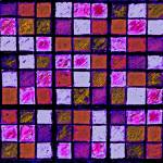 """Sudoku Abstract Violet Orange"" by KsWorldArt"