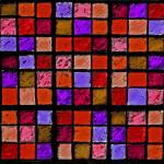 """Sudoku Abstract Red Orange Purple"" by KsWorldArt"