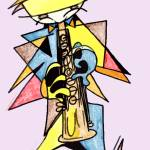 """The Soprano Saxophonist"" by Polylerus"