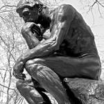 """The Thinker in Black and White"" by lisa5"