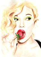 Scarlet Johansson. Strawberry