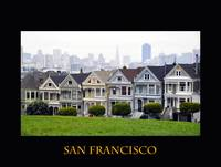San Francisco Poster / Painted Ladies