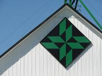 Green and Black Barn Quilt