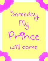 Someday my prince will come copy yellow