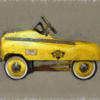 Antique Pedal Car lll Art Prints & Posters by Michelle Calkins