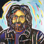 """Jerry Garcia #2"" by DavidNoahGiles"