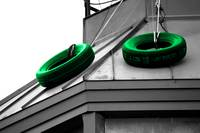 Tire Roof - Green