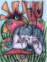 Drawing #93, Butterfly Crying, June 10, 2012