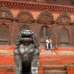 """Large Stone Fu in Durbar Square"" by Serena"