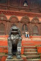 Large Stone Fu in Durbar Square