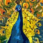 """Peacock Fowl Peafowl Beautiful Bird Art"" by GinetteCallaway"