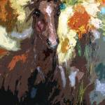 """Foal Modern Abstract Horse Art by Ginette"" by GinetteCallaway"