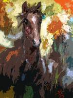 Foal Modern Abstract Horse Art by Ginette