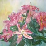"""""""Pink Lilies11"""" by KrugerArtStudio"""