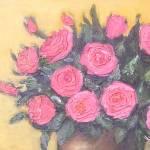 """""""Pink Roses in a Vase"""" by KrugerArtStudio"""
