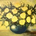 """""""roses in blue vase 11"""" by KrugerArtStudio"""