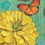 """Verdigris Floral 2"" by DebbieDeWitt"
