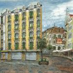 """European Street Town Square"" by DebbieDeWitt"
