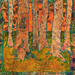 """Tangerine Trees, Tree Art"" by schulmanart"